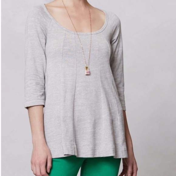 Anthropologie Tops - Anthropologie Deletta Pathed Seams Swing Top
